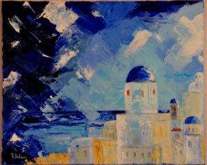 Santorin bleu