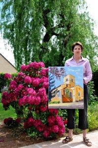 DSC_0047 Geneviève avec son tableau concours
