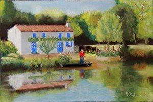 La maison aux volets bleus-Pastel